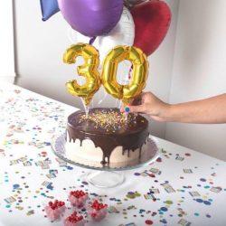 Globo para pastel de cumpleaños