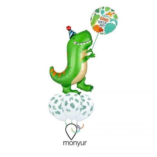 Globo Dinosaurio feliz con helio