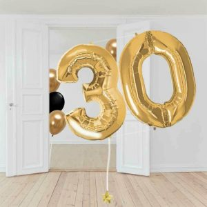 globos de número con helio