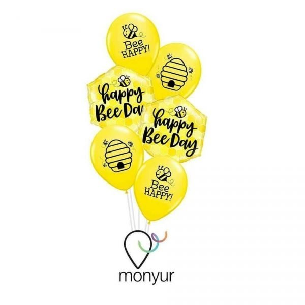 Globos abejas feliz cumpleaños