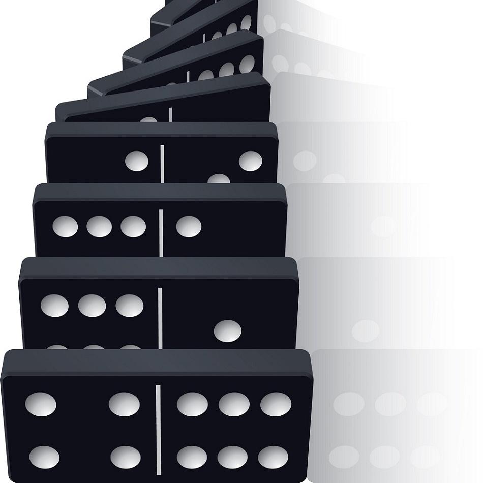La historia del dominó