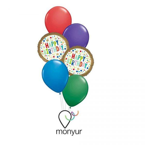 Globo marquesina cumpleaños colorido