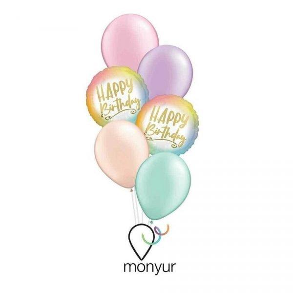 globos cumpleaños color pastel