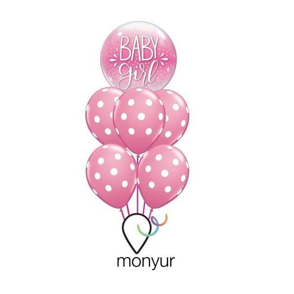 globo baby girl con helio