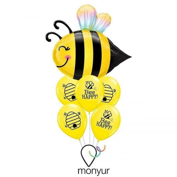 Globo abeja feliz con helio
