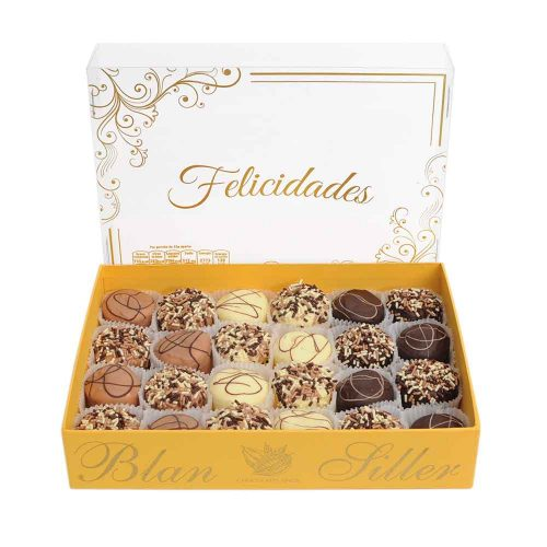 24 Bombones cubiertos de chocolate de la marca Blan Siller