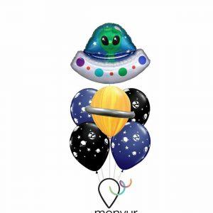 Globo nave espacial con helio
