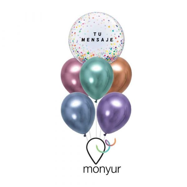 globo personalizado colores con helio