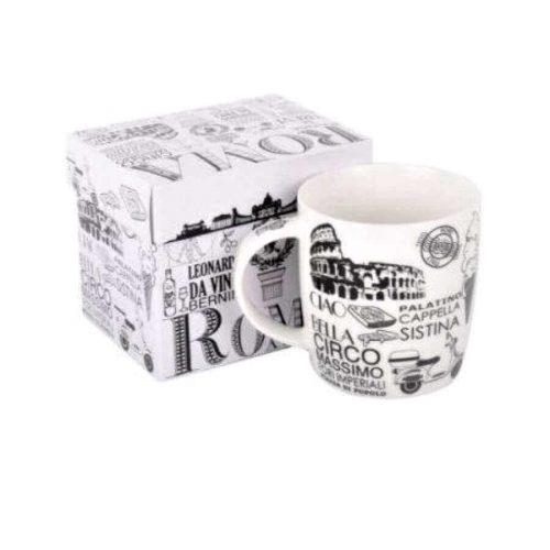 Taza de Roma blanca con caja