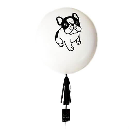 Globo gigante personalizado blanco con diseño con helio