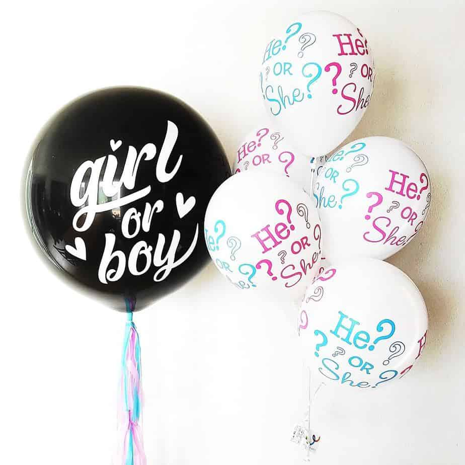 Globos con helio para revelación de género