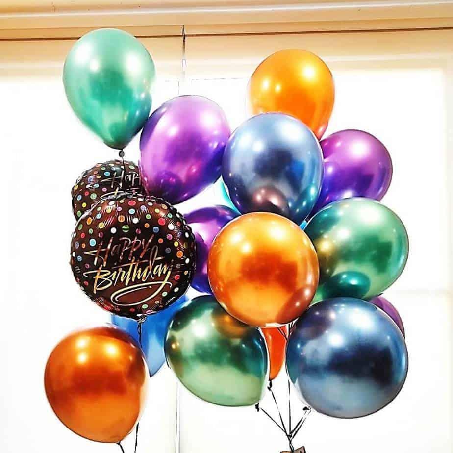 Globos con helio Hbday dots